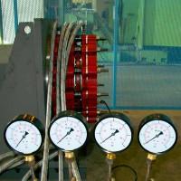 spojko-brzda řady FI na testovací stolici